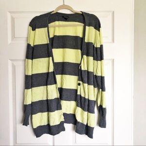Torrid Striped Boyfriend Cardigan - Size 4